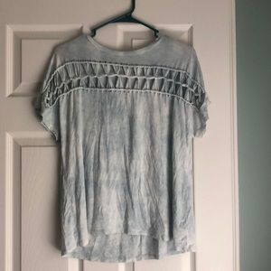 American Eagle Tie Dye Tee with Cutouts